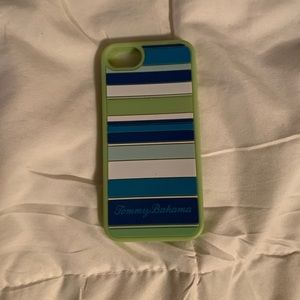 Tommy Bahama blue and green iPhone case